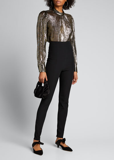 Silvio High-Rise Skinny Pants w/ Zippers
