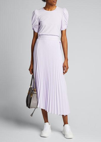 Arielle Pleated Midi Skirt