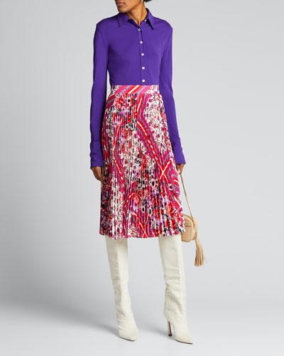 Delilah Multi-Patterned Pleated Skirt