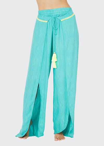 Cascais Wave Tie-front Pants