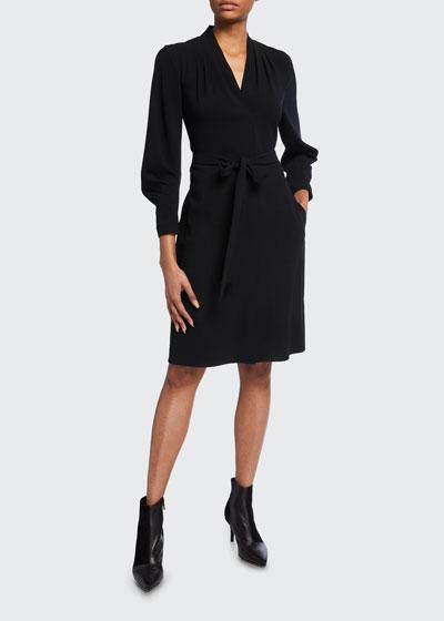 Leona Satin Back Crepe Dress