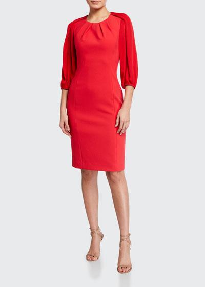 Wendi 3/4-Sleeve Cady Sheath Dress