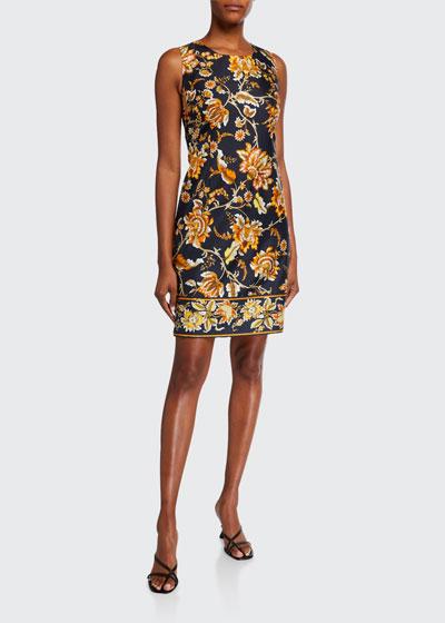 Tina Floral Sleeveless Silk Dress