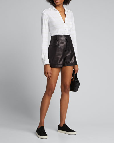 Melange Striped Button-Down Shirt