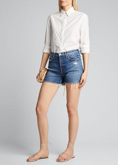 The Dutchie Frayed Denim Shorts