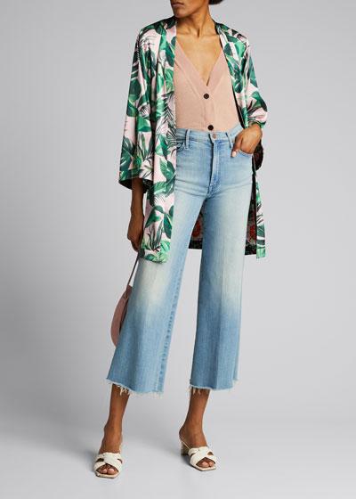 Sunburst Roller Ankle Jeans w/ Unfinished Hem