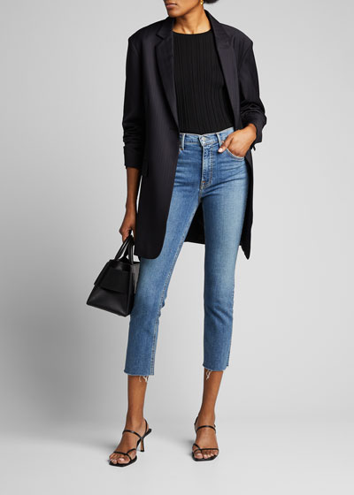 Reed Cropped High-Rise Skinny Jeans