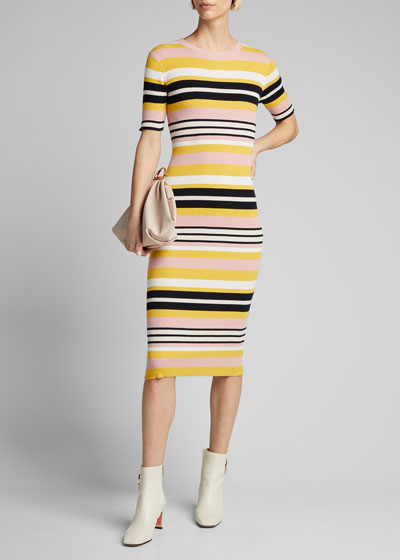 Baja Stripe Bodycon Dress