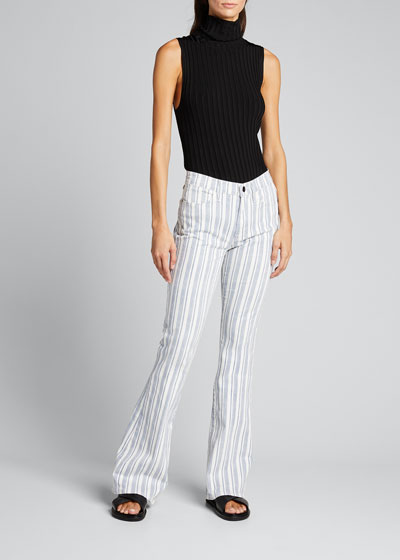 Le High Flare Surfer Striped Jeans