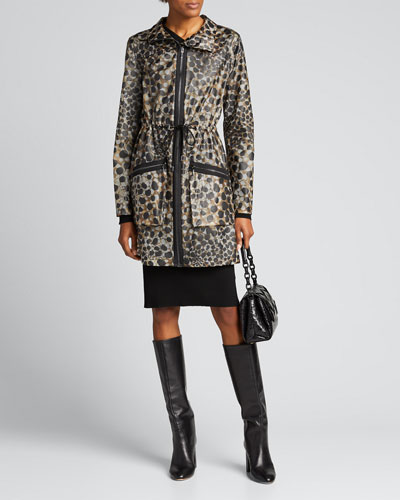 Trish Leopard-Printed Coat