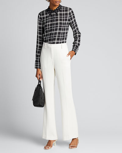 Ingunn Check Georgette Shirt