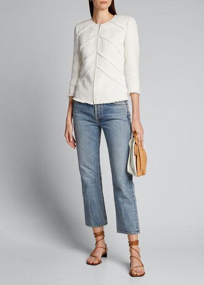 Reynolds Harlow Tweed Zip-Front Jacket