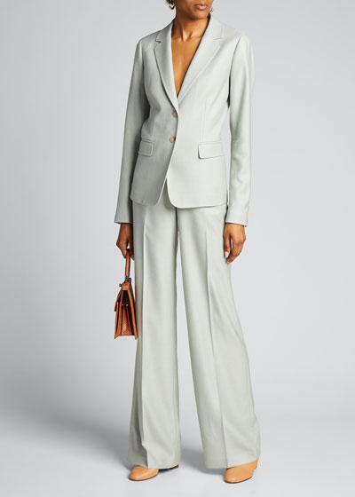 Thatcher Studio Weave Two-Button Blazer