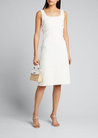 Jennette Harlow Tweed Sleeveless Dress