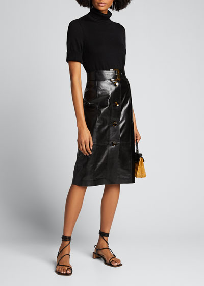 Lacquered Lambskin Avalon Skirt