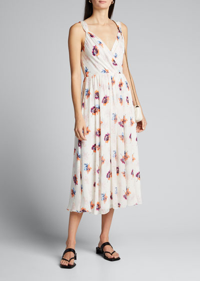 Floral V-Neck Slip Dress