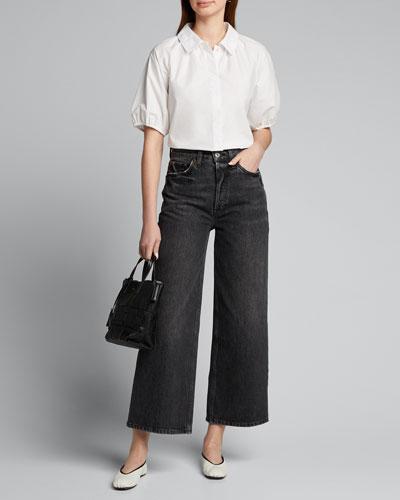 Button-Down Raglan-Sleeve Shirt