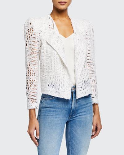 Elgua Open-Front Lace Jacket
