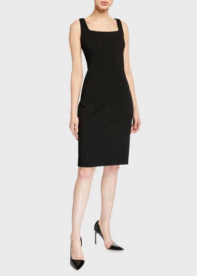 Lowell Square-Neck Ponte Sheath Dress