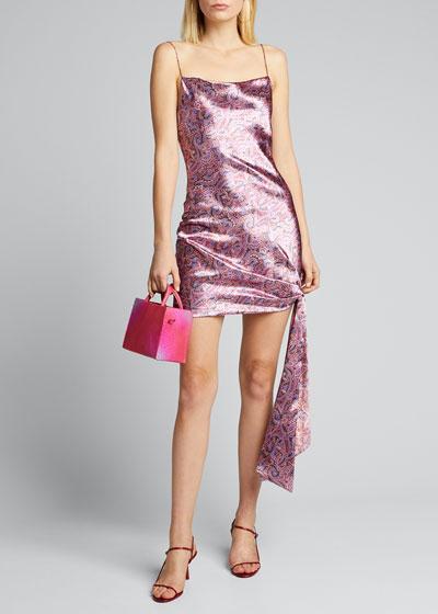 Ryder Paisley-Print Tie Dress