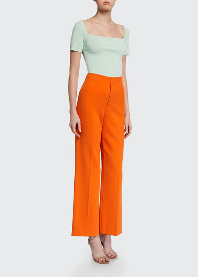 Lorinda Super High-Waist Ankle Pants
