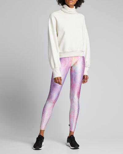 Pink Python Printed Tall Band Leggings