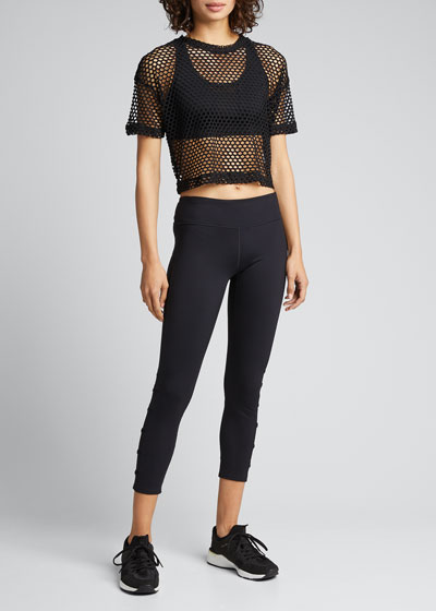 Training Mesh Crop Top