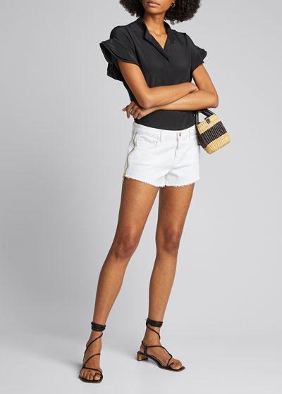 Audrey High-Rise Zip Shorts