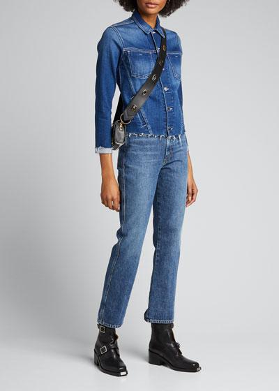 Janelle Slim Raw-Edge Jacket