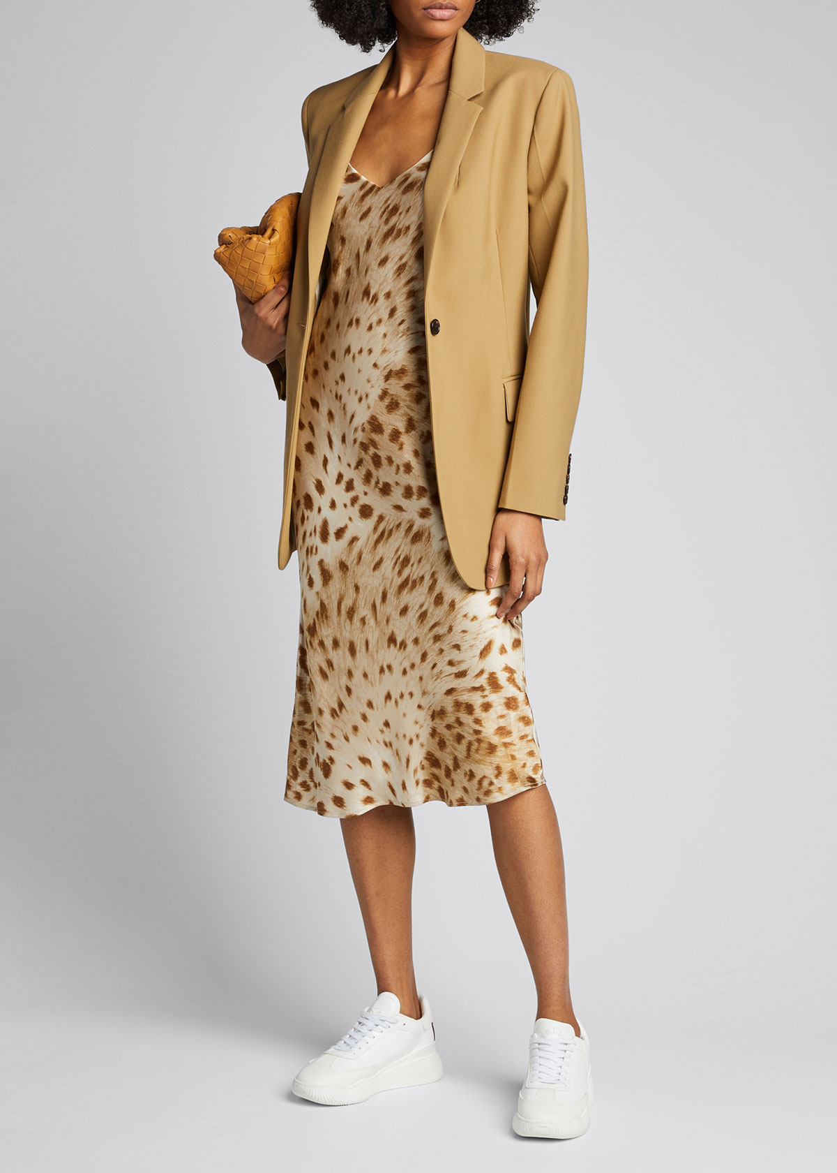L Agence Dresses JODIE V-NECK SLIP DRESS