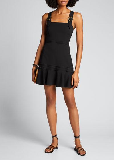 Clara Crepe Flounce Mini Dress