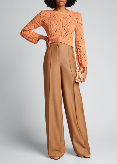 Madelyn Directional Rib Cropped Sweater