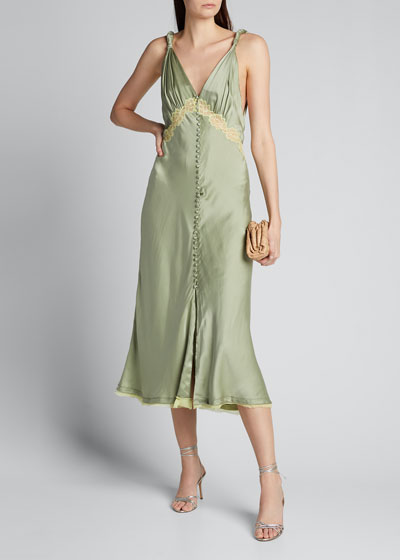 Kendra Sandwashed Charmeuse Dress