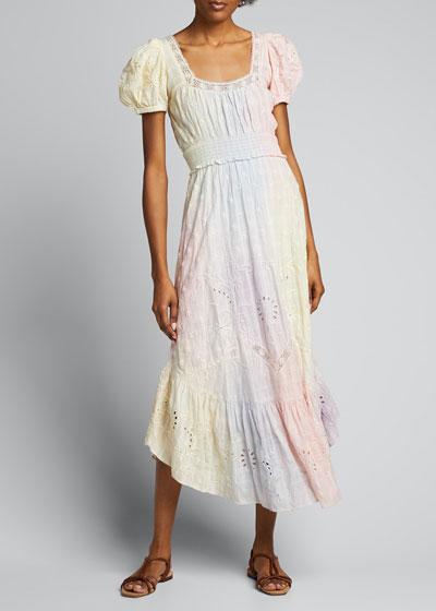 Begonia Cotton Eyelet Midi Dress