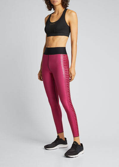 Ultra High-Waist Crocodile Leggings