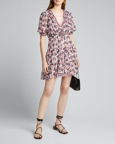 Tish V-Neck Tiered Ruffle Dress