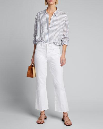 Lillian Striped Long-Sleeve Top