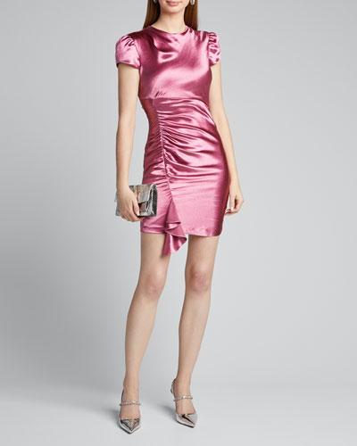 Natalia Short-Sleeve Cocktail Dress