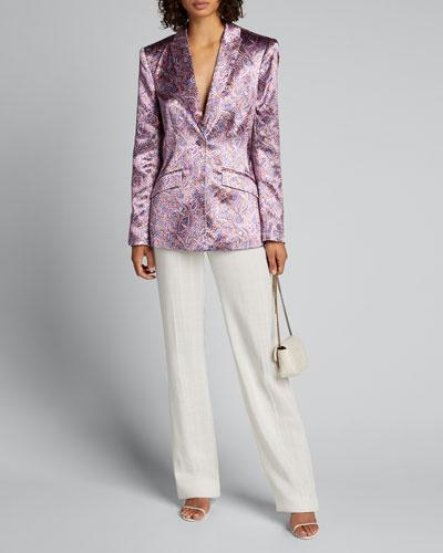 Estelle Printed Single-Button Jacket