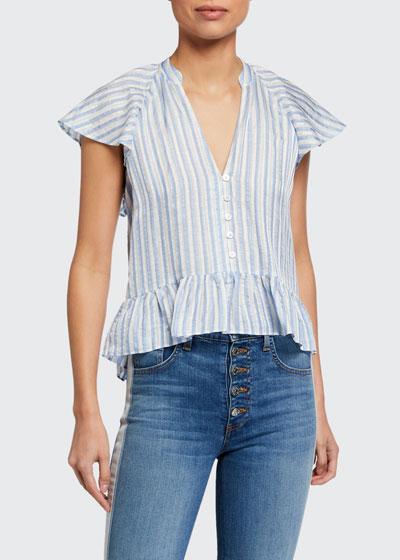 Maple Striped Button-Down Top