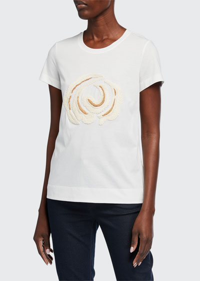 The Embellished Modern Cotton Jersey Tee
