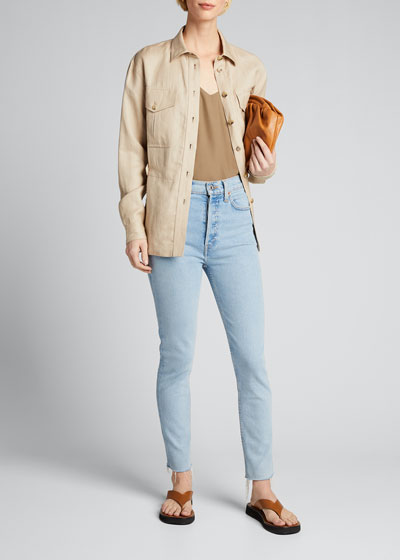 90s High-Rise Ankle Crop Jeans