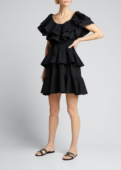 Dotty Tiered Ruffle Dress