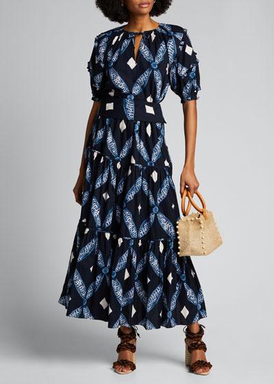 Eiko Tiered Printed Maxi Skirt