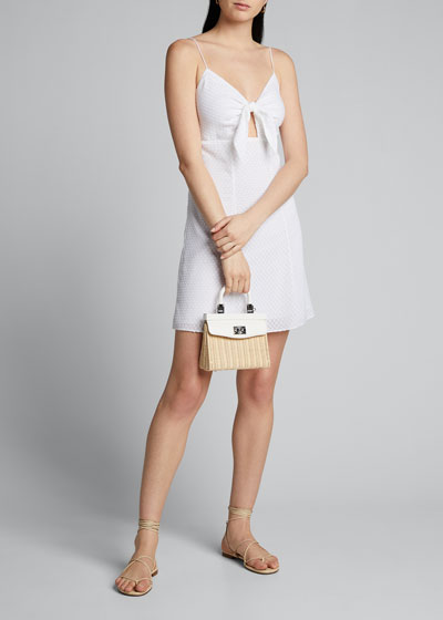 Roe Tie-Front Flare Dress