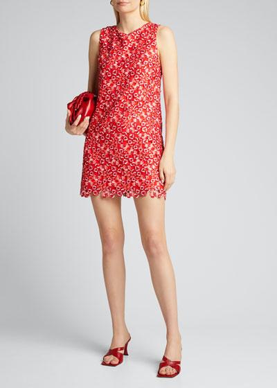 Clyde Floral Lace Shift Dress