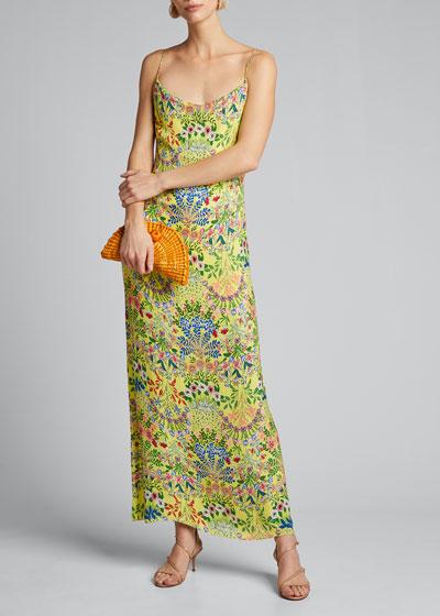 Harmony Drapey Slip Maxi Dress w/ Slit