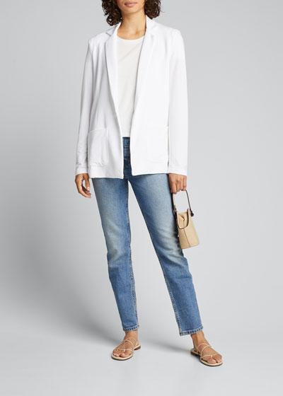 Silk Touch Short-Sleeve Crewneck Tee w/ Contrast Back