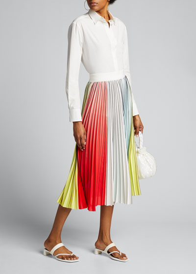 Arden Pleated Midi Skirt