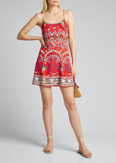 Ira Spaghetti-Strap Flare Dress